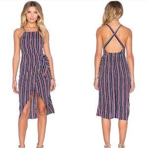 Privacy Please • Nassau Striped Midi Wrap Dress